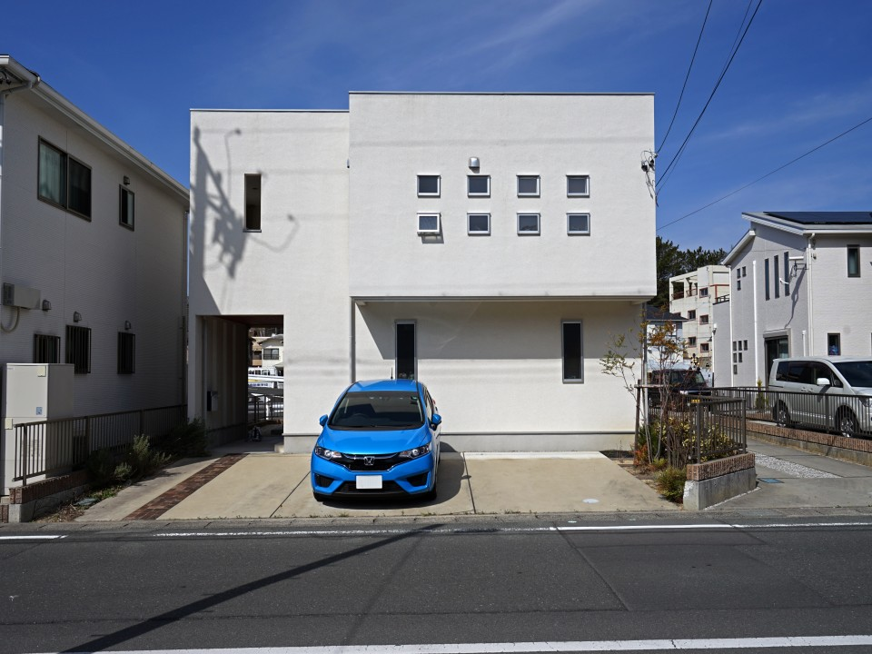 桜階段のある家